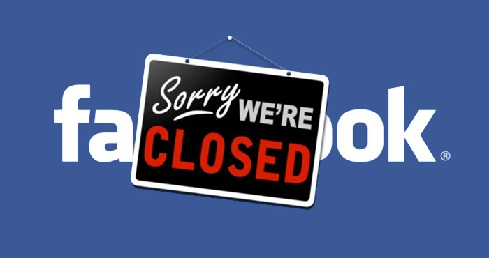 Facebook: sorry were CLOSED