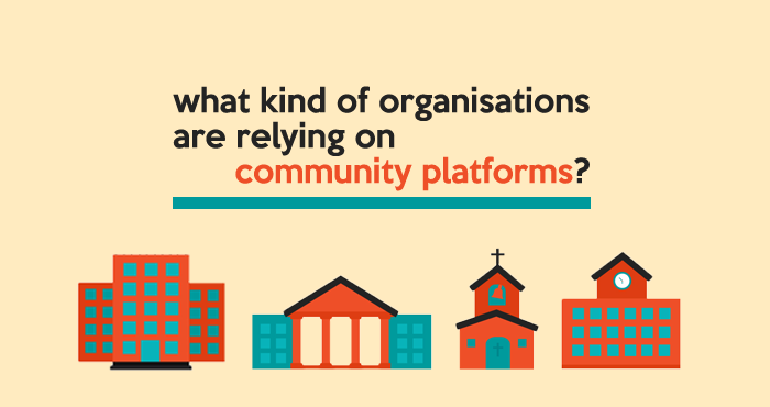 what kind of organisations are relying on community platforms